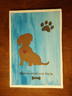 Watercolor Notepad Cover With Doggy Theme