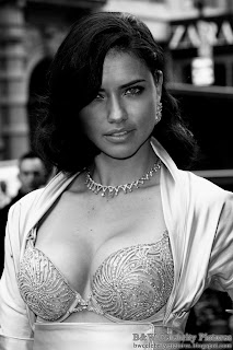 Adriana Lima - B&W Victoria's Secrets $2 million bra show off - picture 2