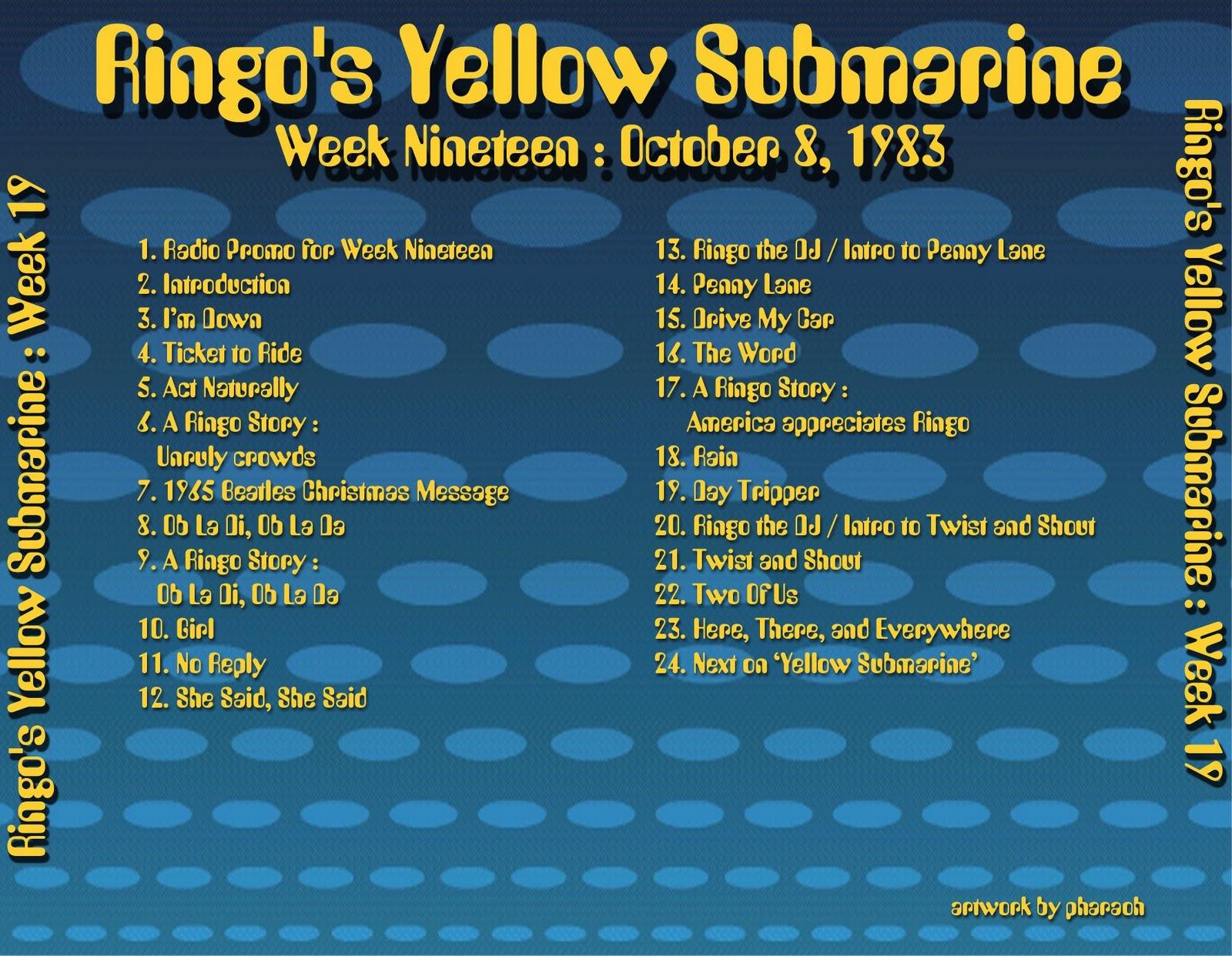 Beatles Radio Waves: 1983 10 08 Ringo's Yellow Submarine 19 #BA9B11 1600 1242