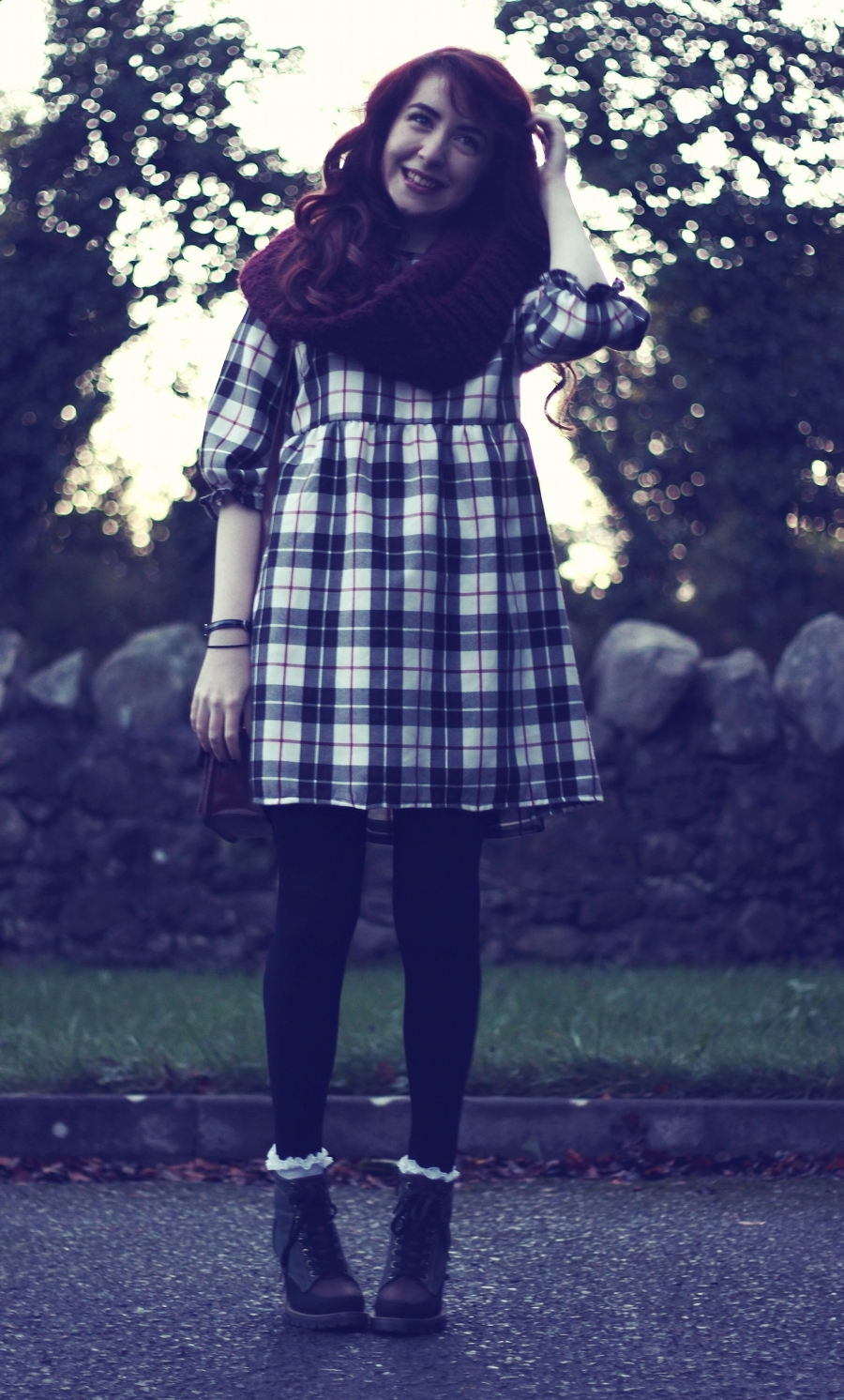 Plaid Smock Etta Dress by Loving Youth