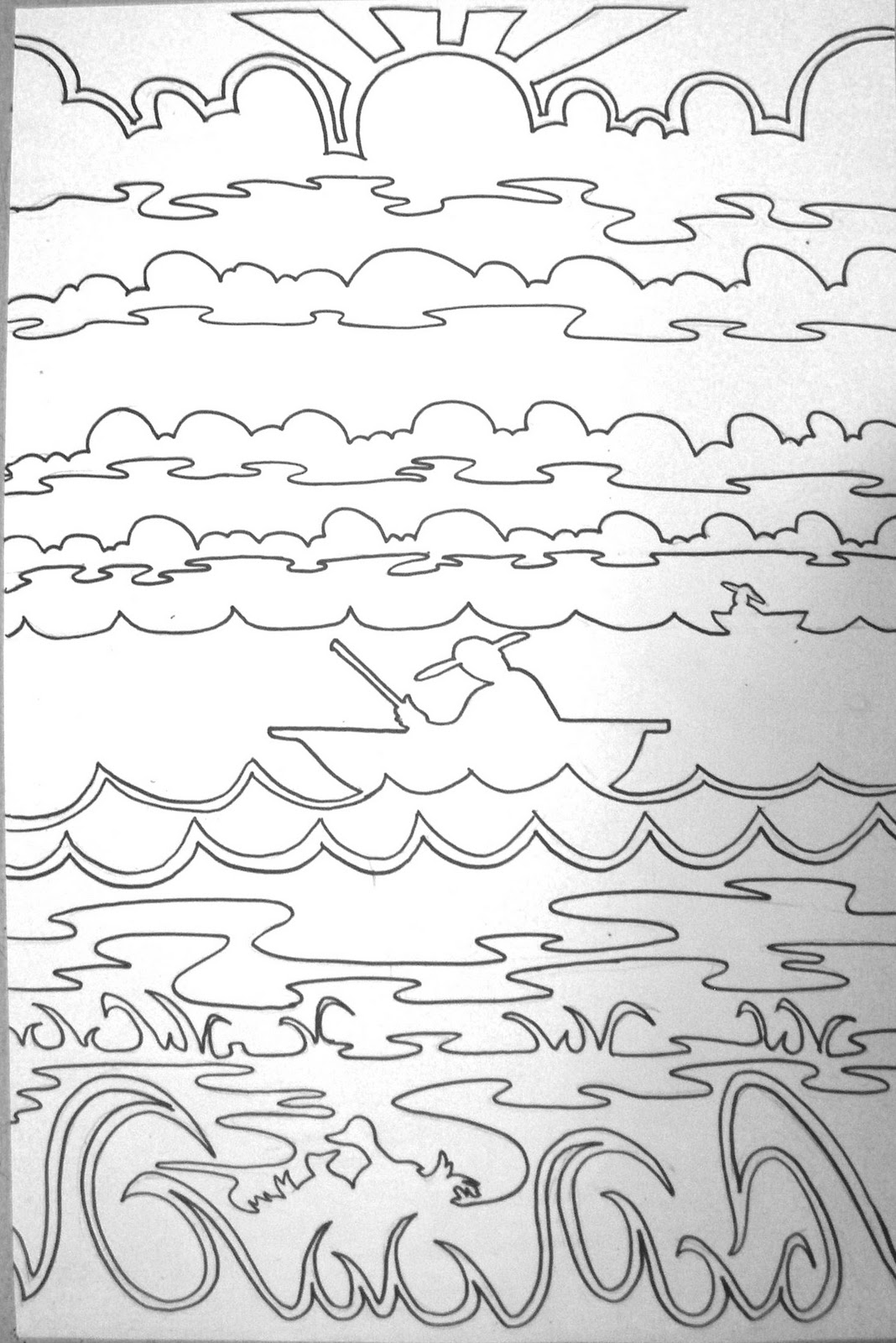 Line Art Landscape : The lost sock i love this line landscape idea