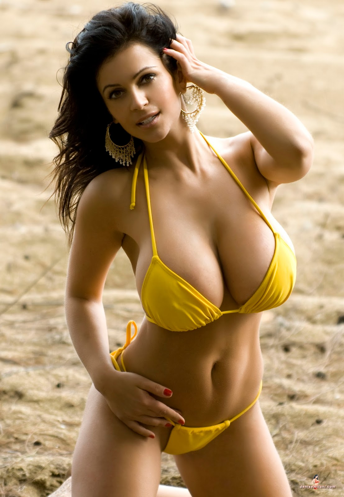 Denise Milani Sexiest Photoshoots: Denise Milani: Yellow ...