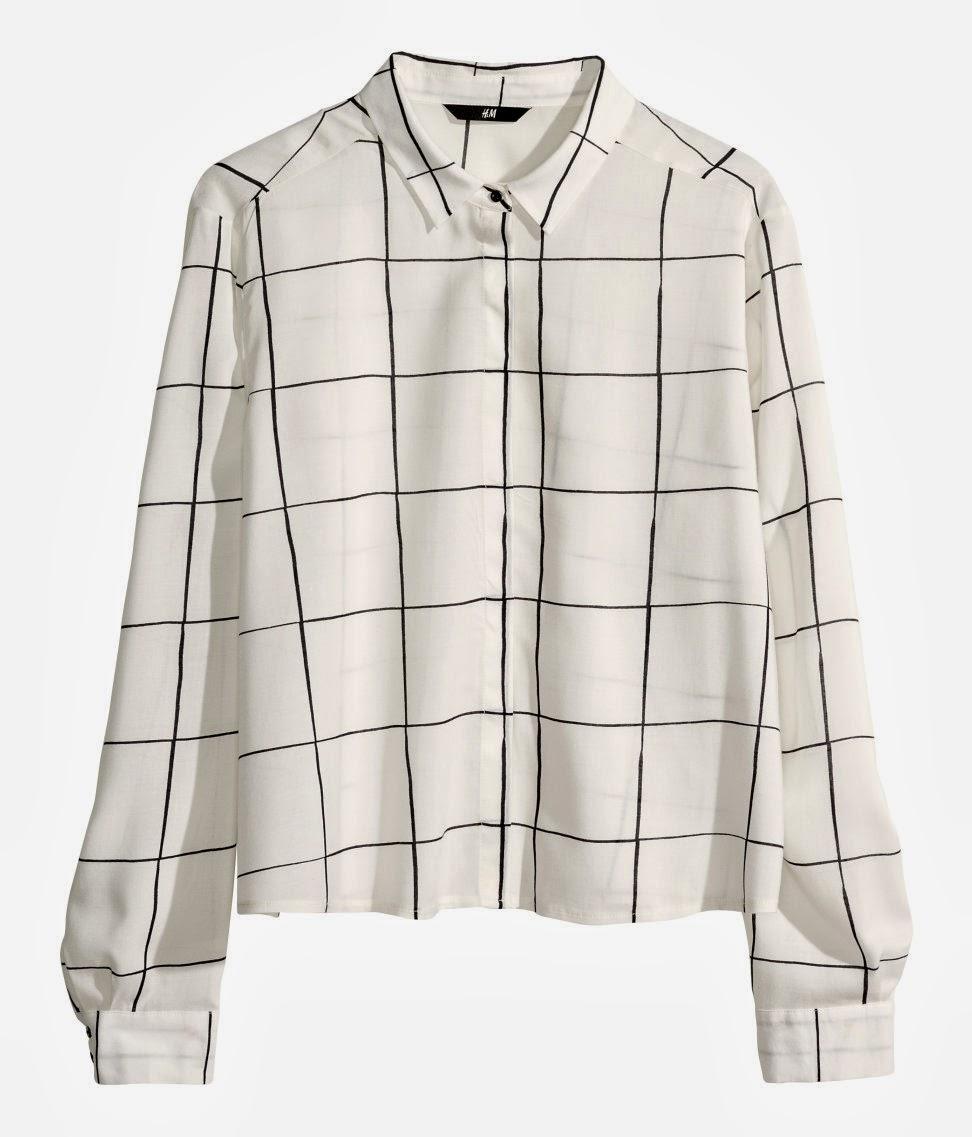 square print blouse