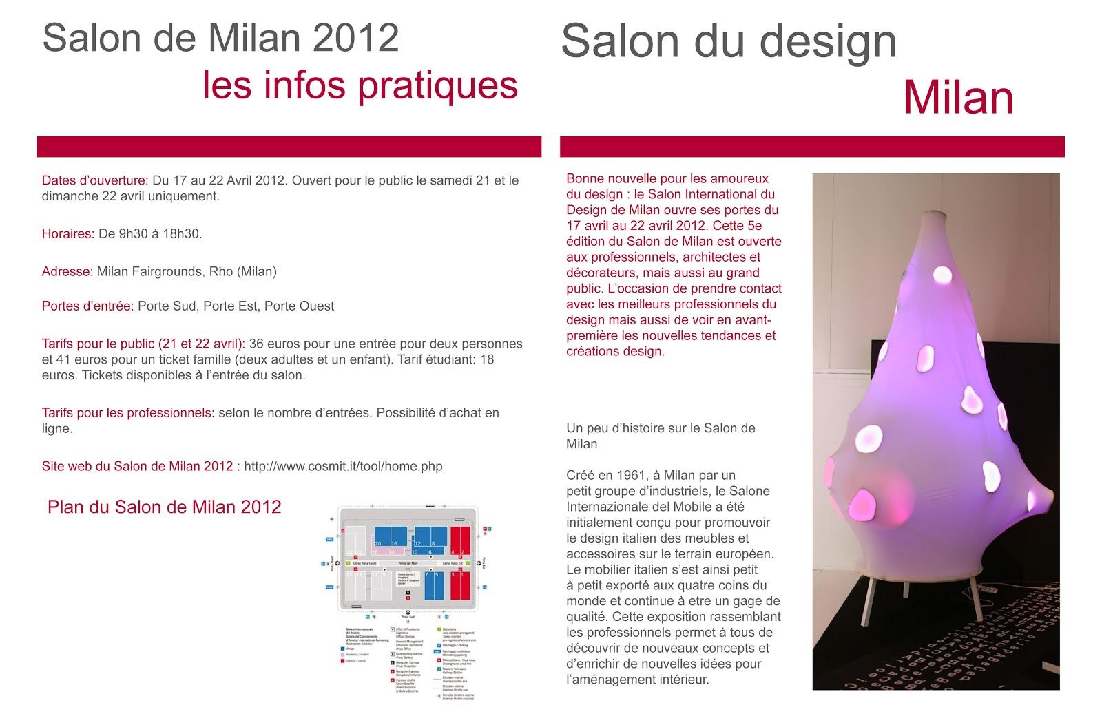 Florian Nadeau Mise En Page Sur Le Salon Du Design De Milan