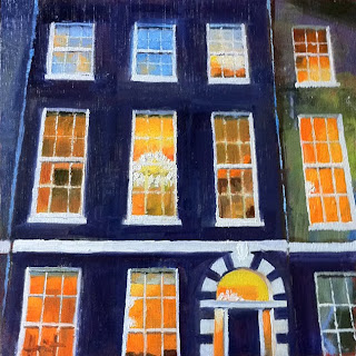 Lights in Bedford Square by Liza Hirst