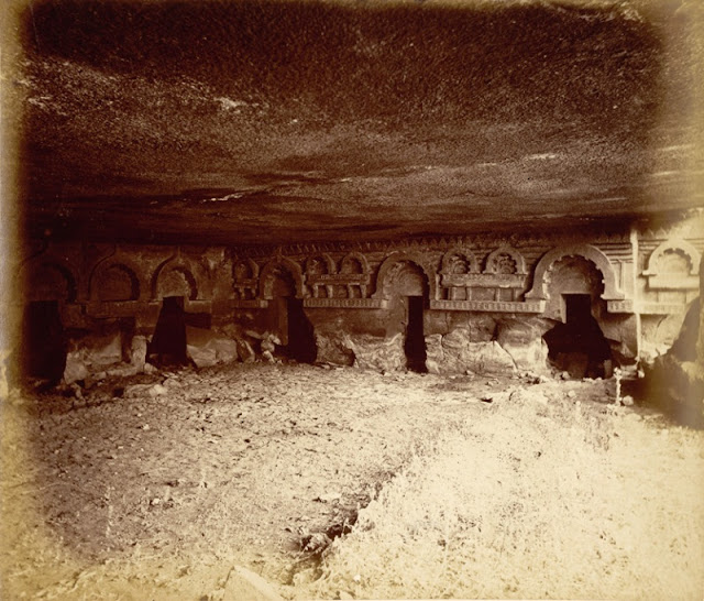 Cave no. 12 in 1868, (photo British Library)