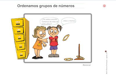 Ordenamos grupos de números,Matemáticas,numeración,números