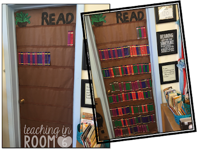 "A classroom ""bookshelf"" that can show the books that the class is reading throughout the year."