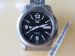 SEIKO 5 BLACK NUMERAL DIAL PART G - AUTOMATIC