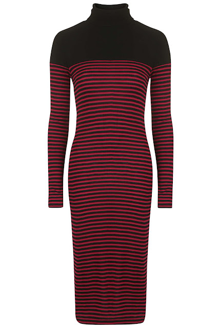 black red striped dress