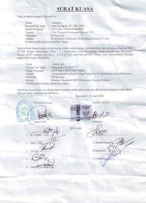 contoh surat kuasa tanah pemerintah desa kecamatan kabupaten surat
