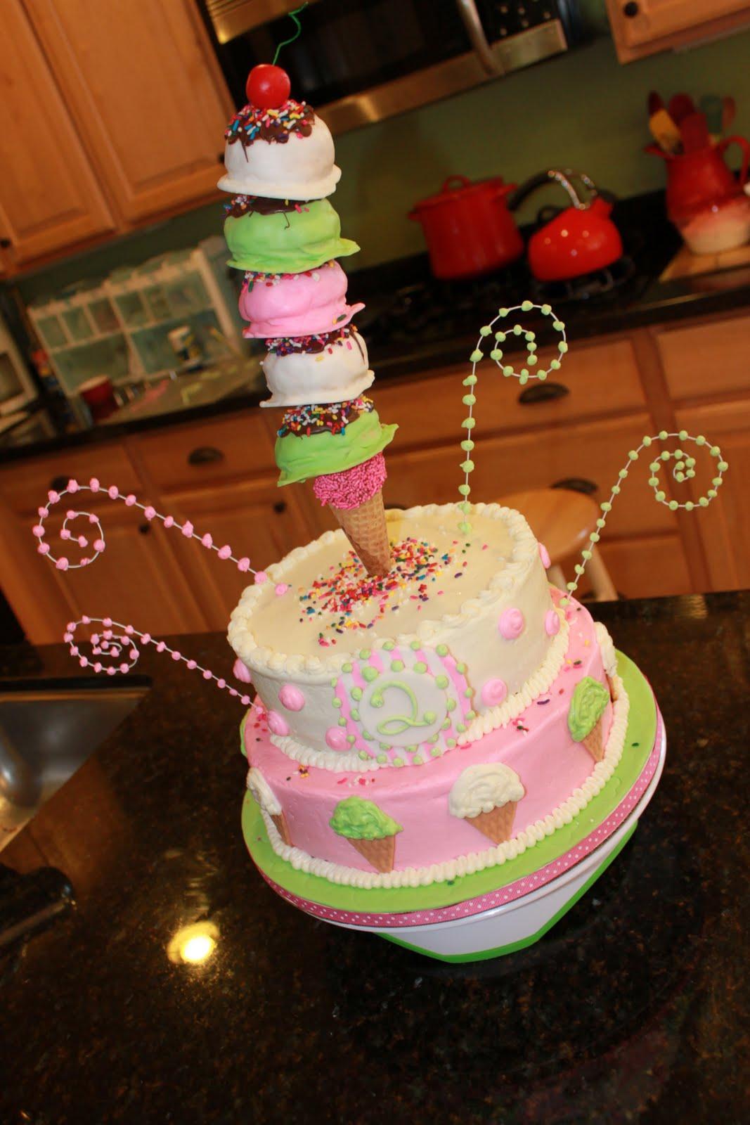 Ice Cream Themed Cake : Katiediditcakes: Ice Cream theme cake