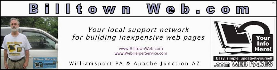 Billtown Web, Web Pages Using Blogger