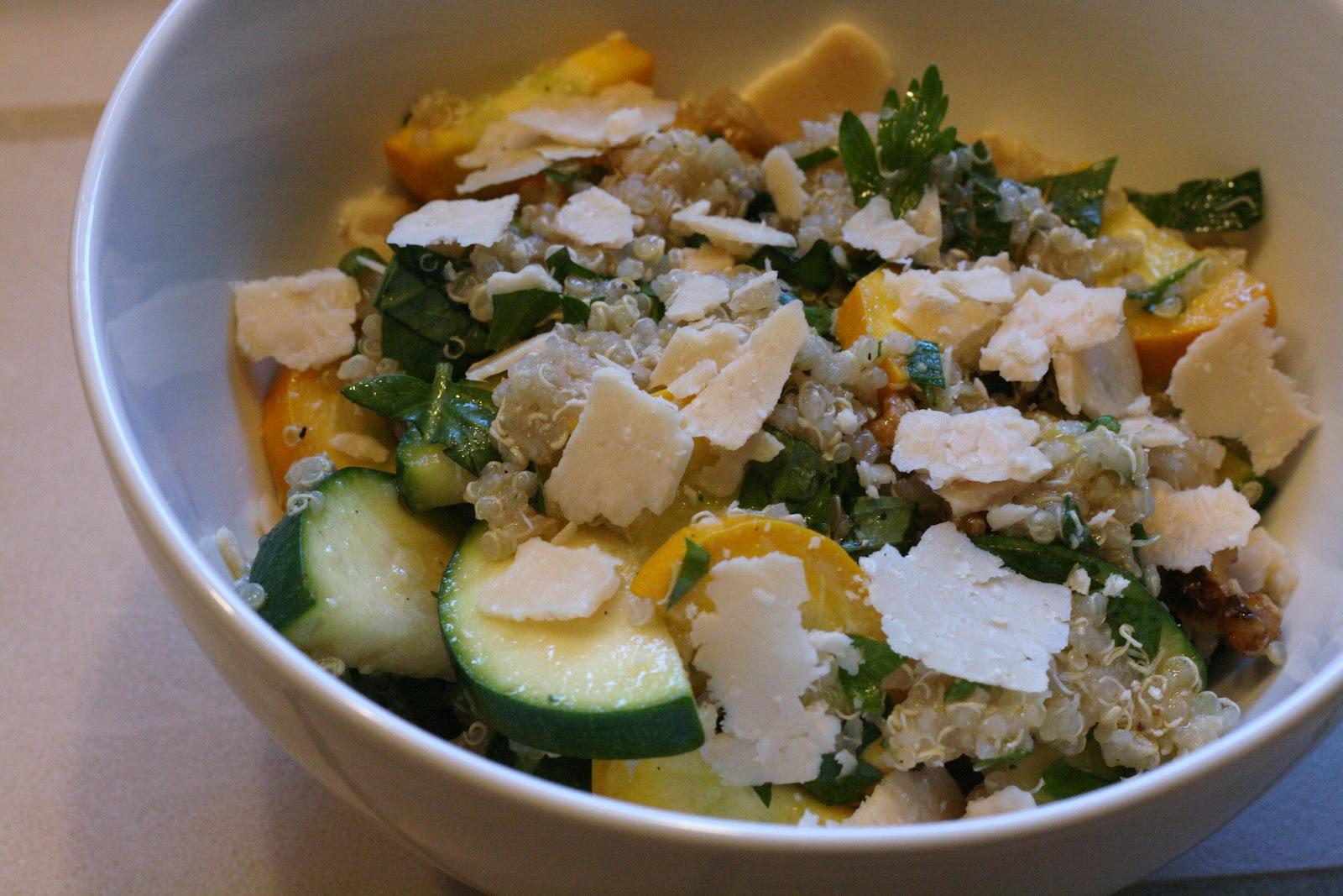 Laine's Recipe Box: Summer Squash and Red Quinoa Salad ...