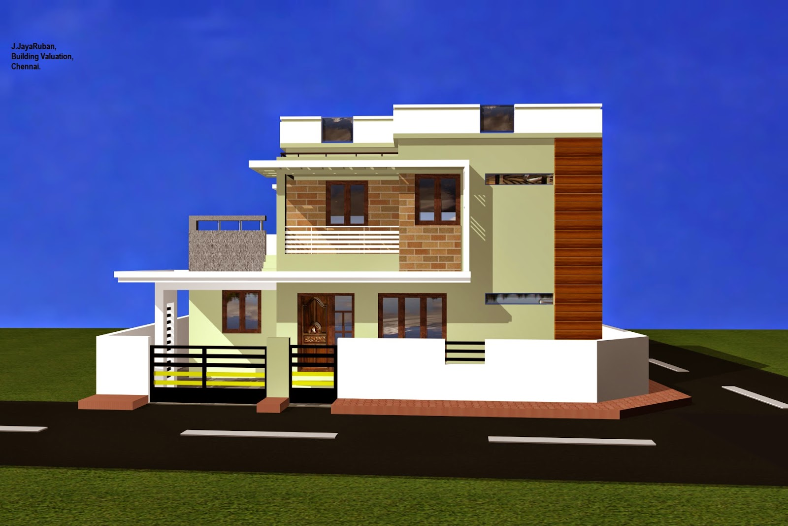 Elevations of residential buildings joy studio design for Ground floor 3d elevation