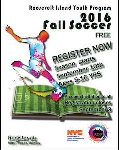 Register Now For Roosevelt Island Youth Program Fall Soccer Program