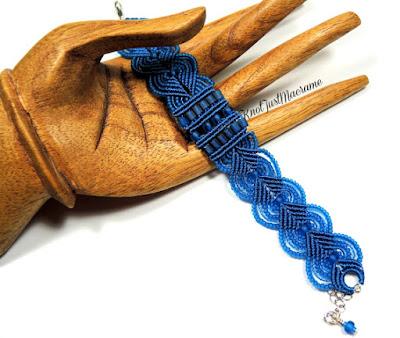 Micro macrame bracelet in capri blue by Sherri Stokey.