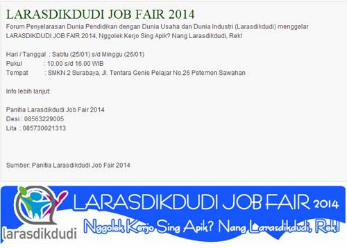Larasdikdudi Job Fair 2014