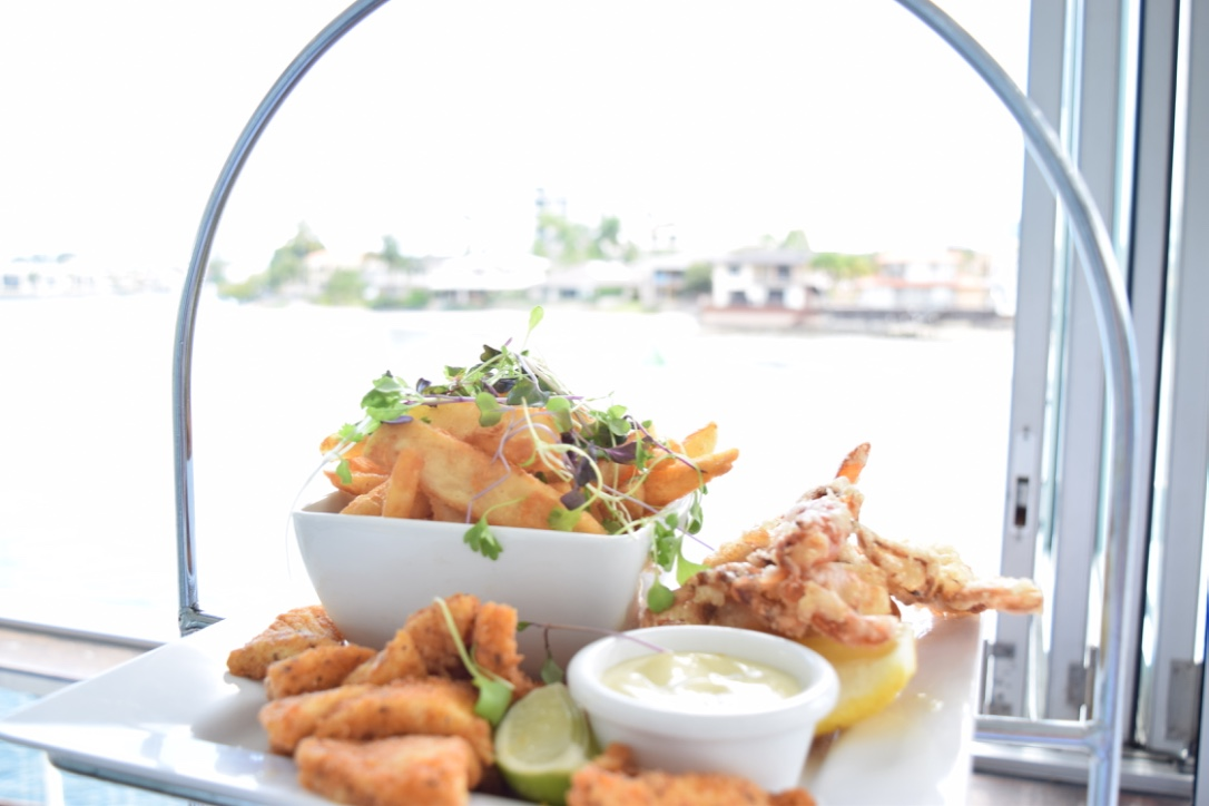 Chips, Crab, Calamari