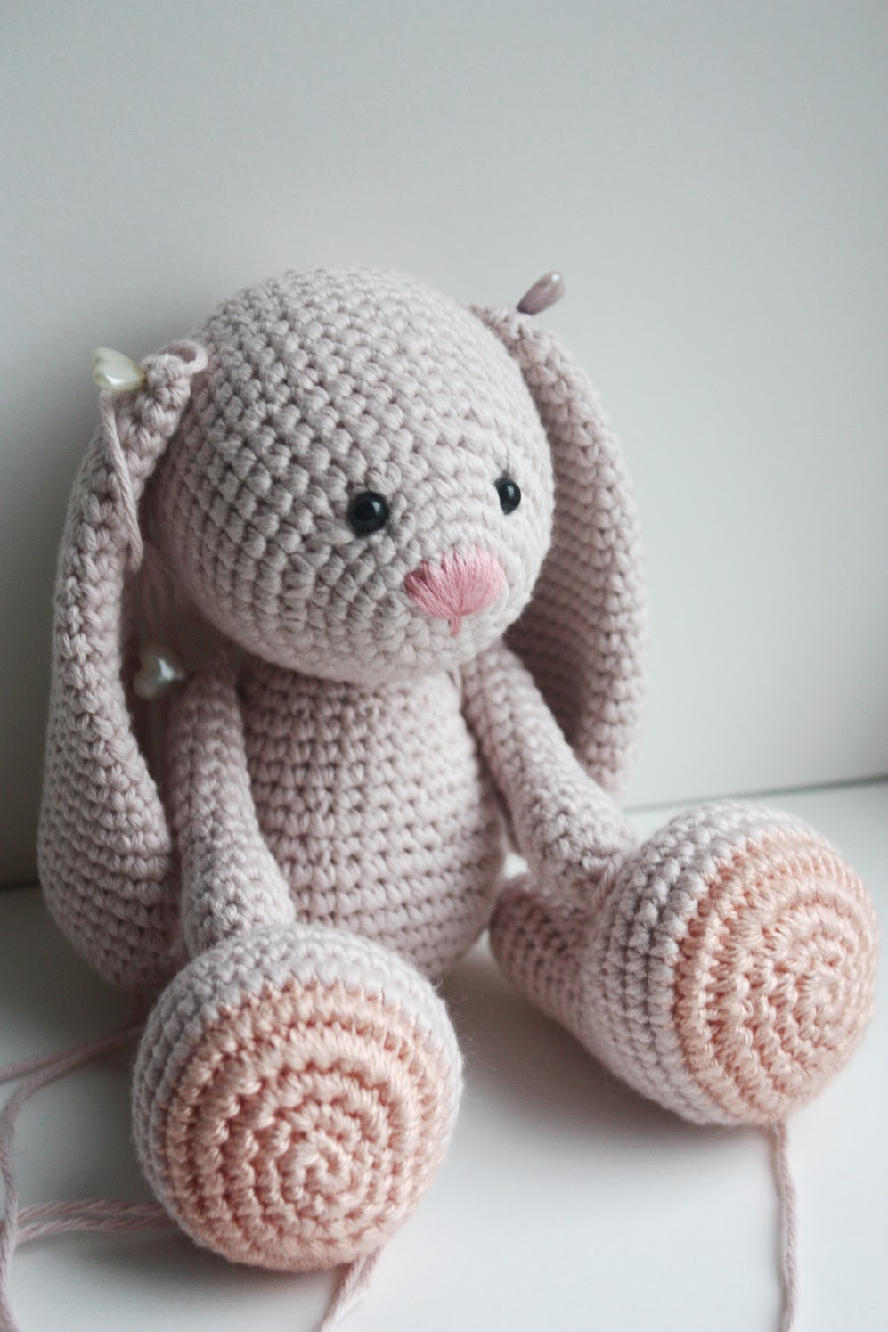 New design: little amigurumi bunny in process, the pattern will be ...