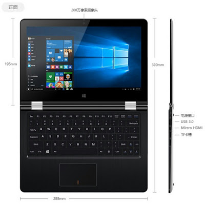Onda oBook 11 11.6 pollici Windows 10 Intel Atom x5-Z8300 Cherry Trail 1.8GHZ tablet