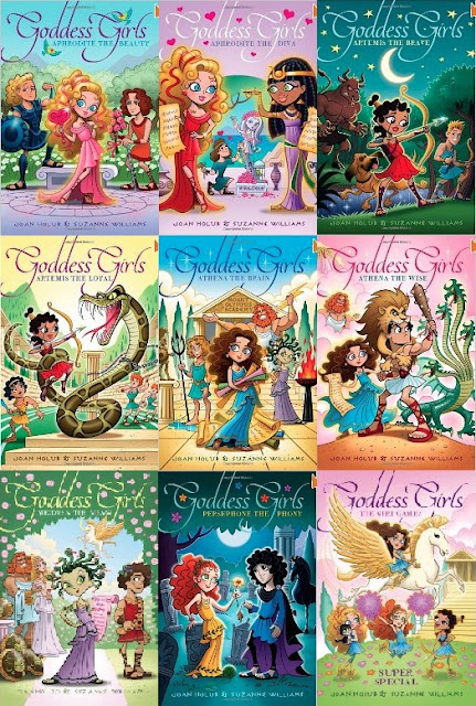 bookcovers for the GODDESS GIRLS series