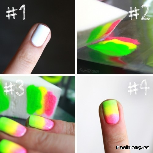 How to get the ombre stain nails look