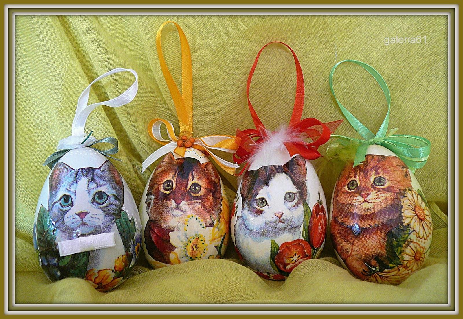 pisanki wielkanocne - koty