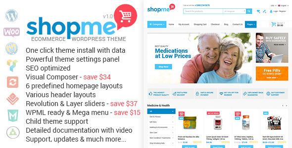 download ShopMe - Ecommerce Wordpress Theme