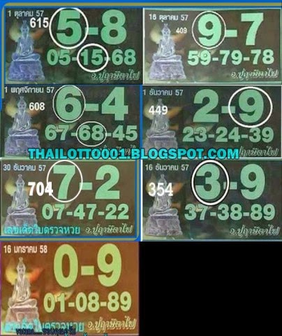 Thai lotto tip 001 thai lottery best touch and pair tip paper 16 01