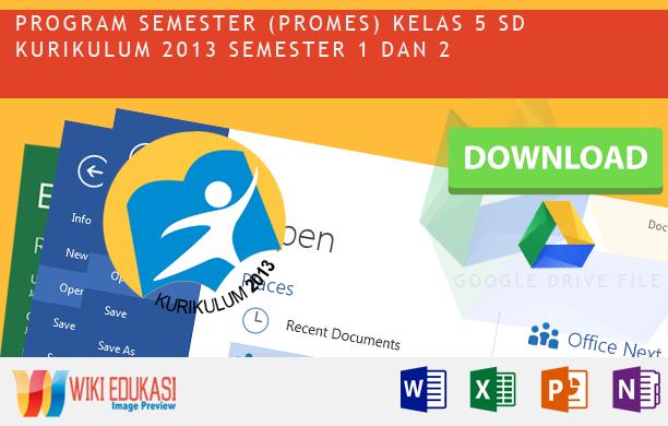 Program Semester KELAS 5 KURIKULUM 2013