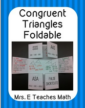 triangle foldable covering congruent triangles found on Pinterest