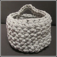 Cesta Crochet Ganchillo Trapillo - ChikiPol