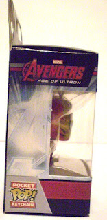 Right side of Iron Man Pocket Pop Keychain in box