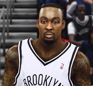 NBA 2K14 Andray Blatche Cyberface Mod