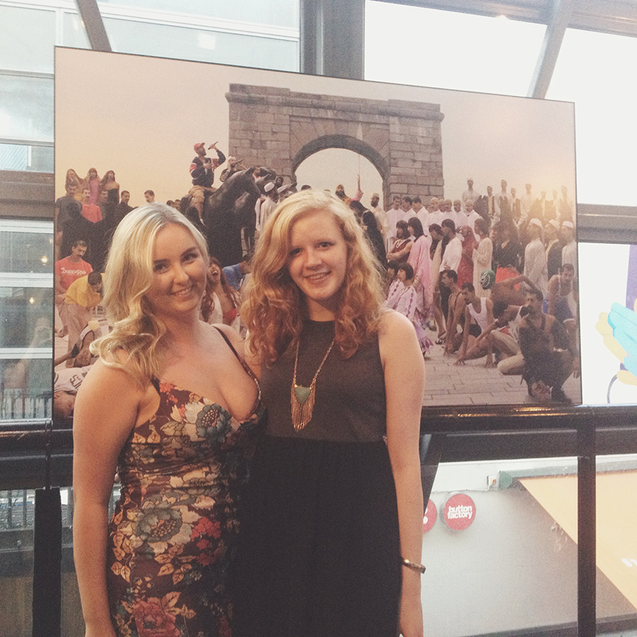Gillian and Claire at the Launch of 2Fik's 'The Marriage of Strongbow (and Aoife)' as part of the Dublin Fringe Festival, 2014