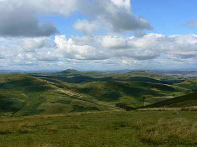 The view into Scotland from White Law on the Border Ridge