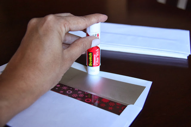 Glue stick uses; wedding invitations