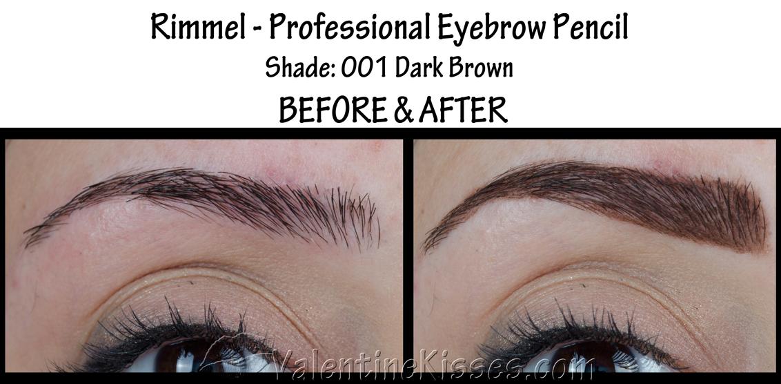 Valentine Kisses Rimmel Professional Eyebrow Pencil In Dark Brown