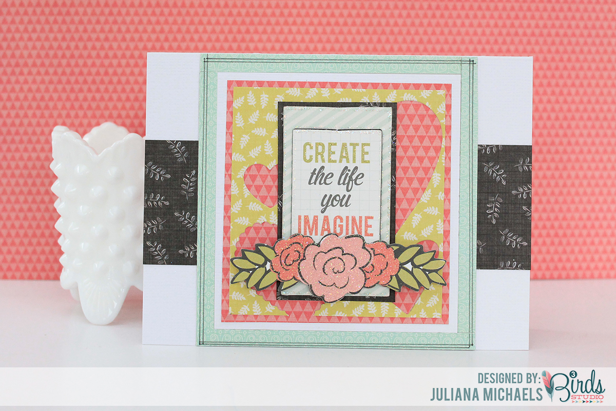 Create The Life Card by Juliana Michaels made using scraps from the 3 Birds Studio Graceful Season collection available on HSN.com
