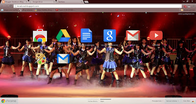 tema google chrome JKT48 River