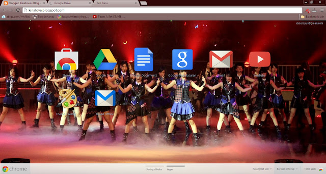 skin theme google chrome jkt48 versi river file name jkt48 river crx