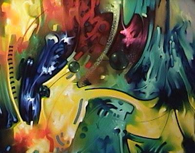 Cuadros modernos oleos modernos coloridos for Cuadros coloridos modernos