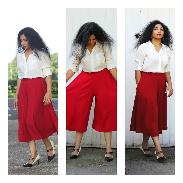 Red Long Culottes
