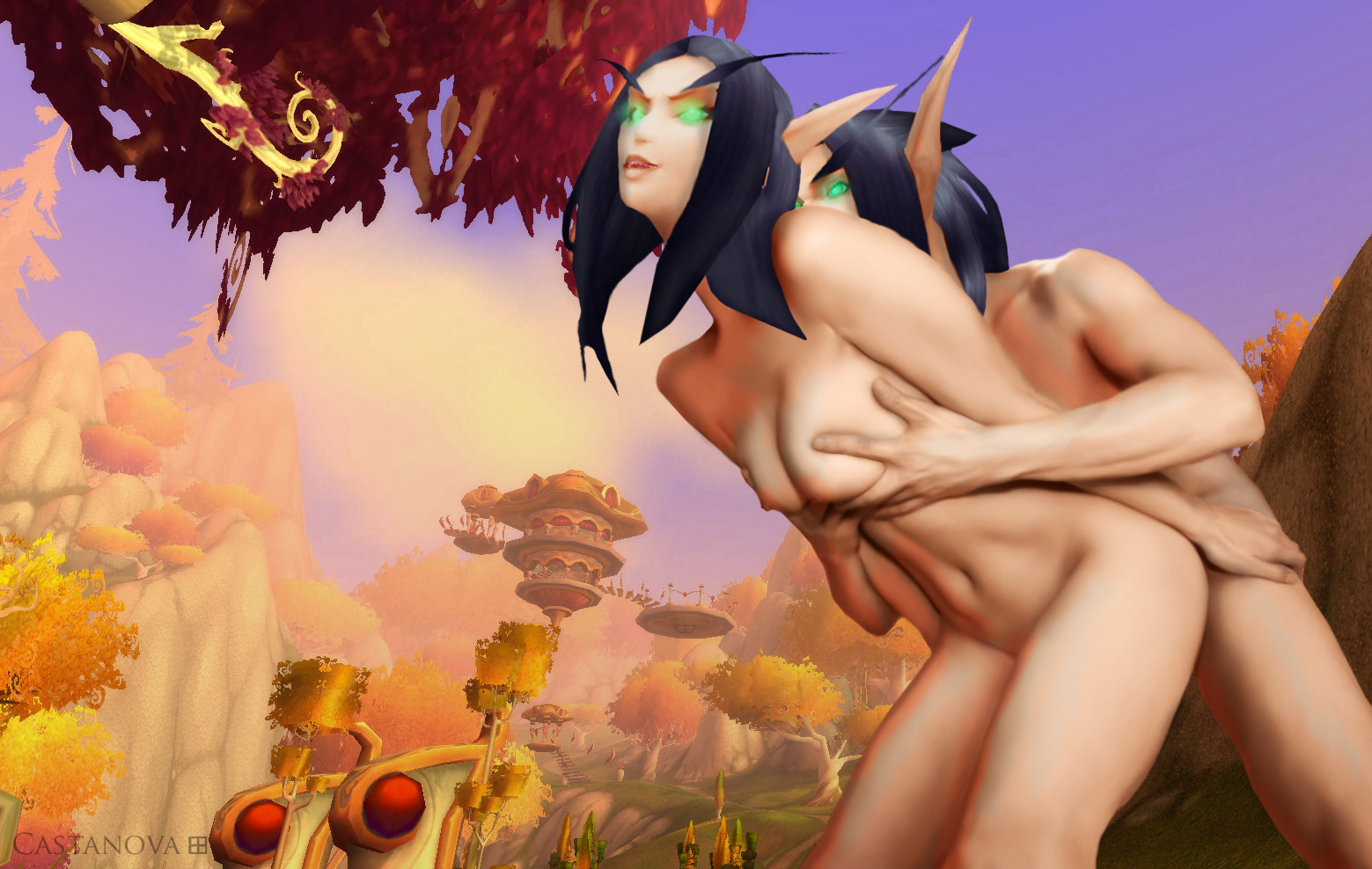 Это female blood elf porn