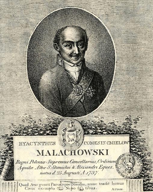 Miedzioryt Jacka Małachowskiego zamieszczony w: Mowy i pisma publiczne hrabi Hyacynta Małachowskiego, Wrocław 1809.