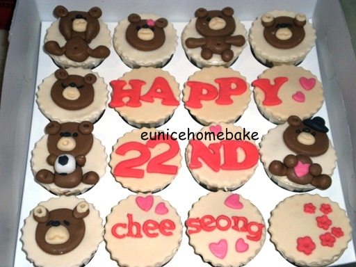 Eunice Home Bake Klang Happy 22nd Birthday Bear Themed