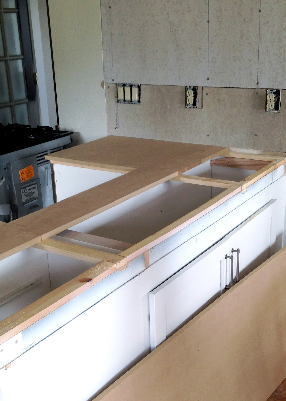 plywood countertop kitchen underneath