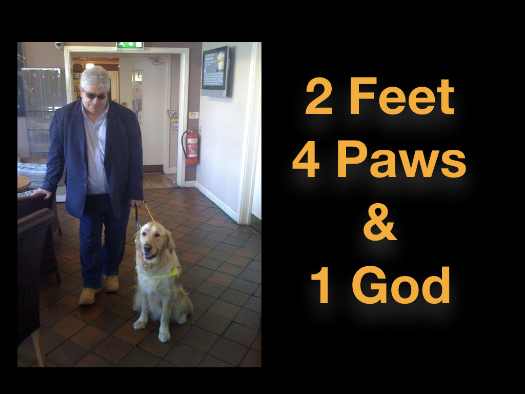 2 Feet, 4 Paws & 1 God