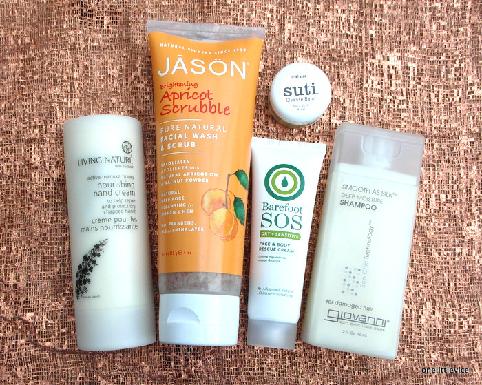 image of natural beauty box contents November 2014